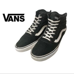 Vans Off the Wall Black Canvas High Top Sneakers
